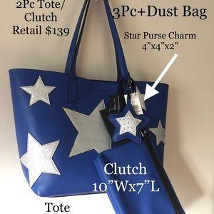 4Pc Kendall & Kylie Tote-Clutch-Purse Charm-D Bag